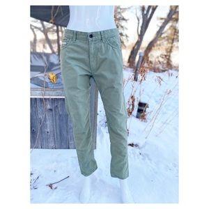 Vans Green Chino Pants Jeans Men's
